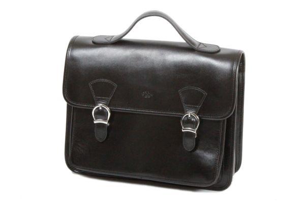 Cartable Katana Cuir de Vachette collet K 98225 Noir
