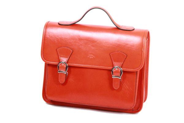 Cartable Katana Cuir de Vachette collet K 98225 Orange