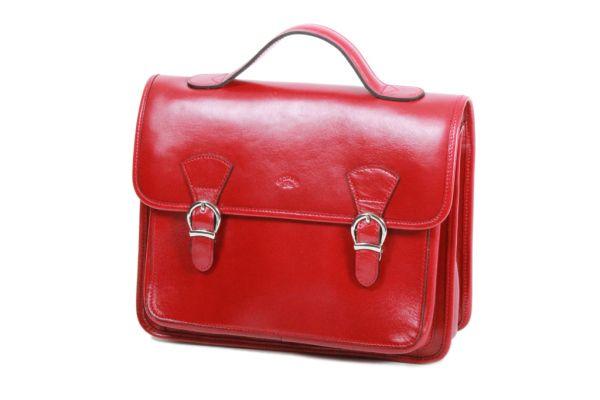 Cartable Katana Cuir de Vachette collet K 98225 Rouge