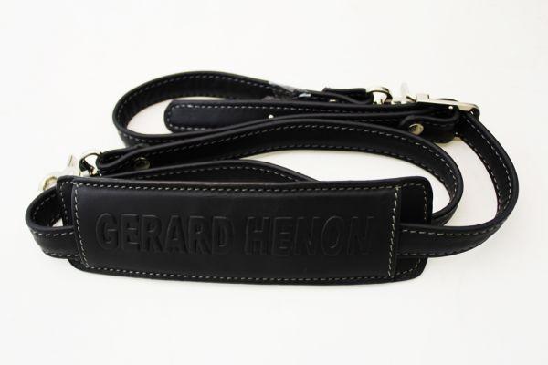 Sacoche Gérard Henon Soft line GH 2511 Cuir de Vachette lisse souple 2 soufflets