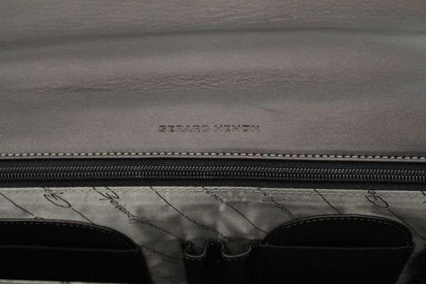 Cartable Softline Gérard Henon GH 2541 Cuir de Vachette lisse souple 1 soufflet