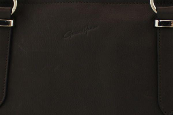 Porte-document Gérard Henon Vichy GH 19201 Cuir de Vachette souple Noir