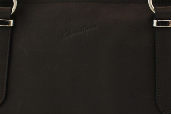 Sac shopping Gérard Henon GH 19205 Cuir de Vachette souple Noir