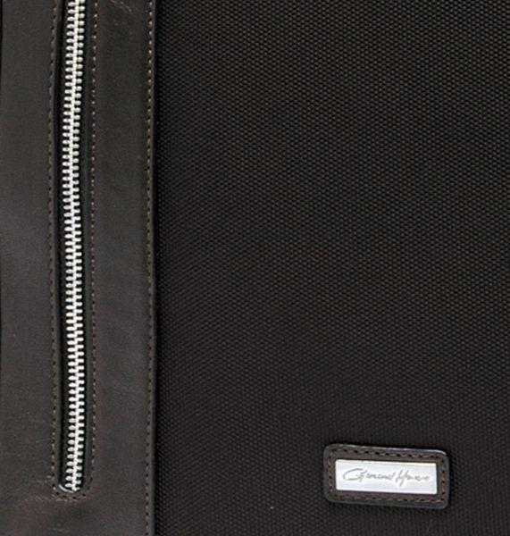 Sacoche / porte-ordinateur Gérard Henon New Styl' GH 2382 Nylon garni cuir de Vachette - Marron